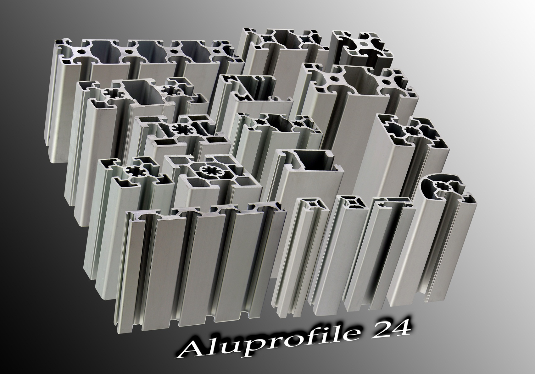 aluprofile 24 aluprofile aluminiumprofile strebenprofile maschinenbauprofile profile. Black Bedroom Furniture Sets. Home Design Ideas