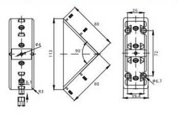 Befestigungssatz und Abdeckkappe Winkel 40x80 I-Typ Nut 8 inkl